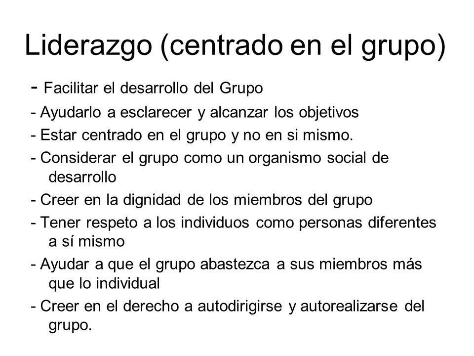 Liderazgo (centrado en el grupo)