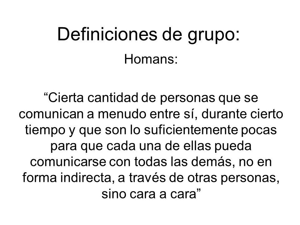 Definiciones de grupo: