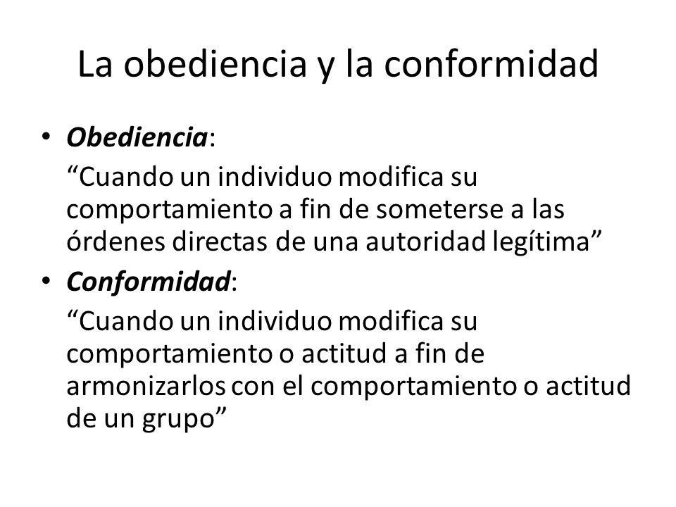 La obediencia y la conformidad