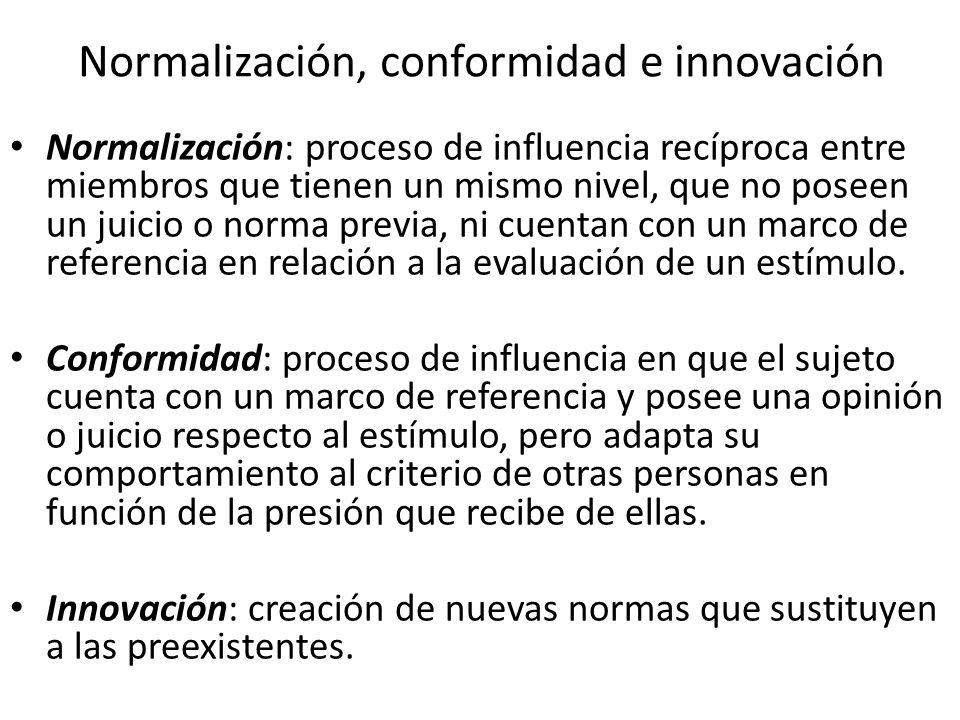 Normalización, conformidad e innovación
