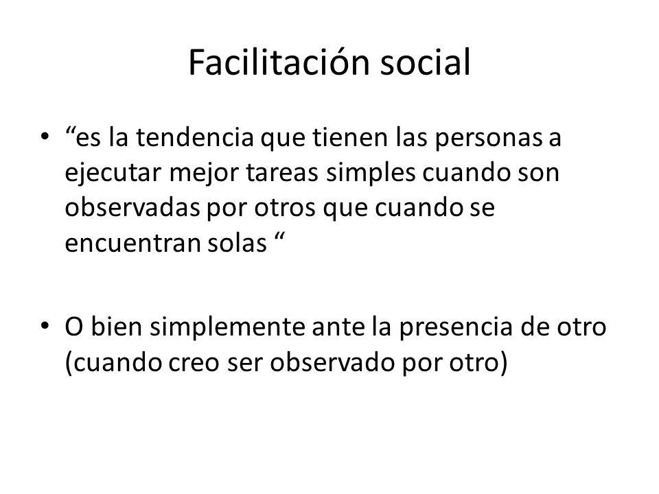 Facilitación social