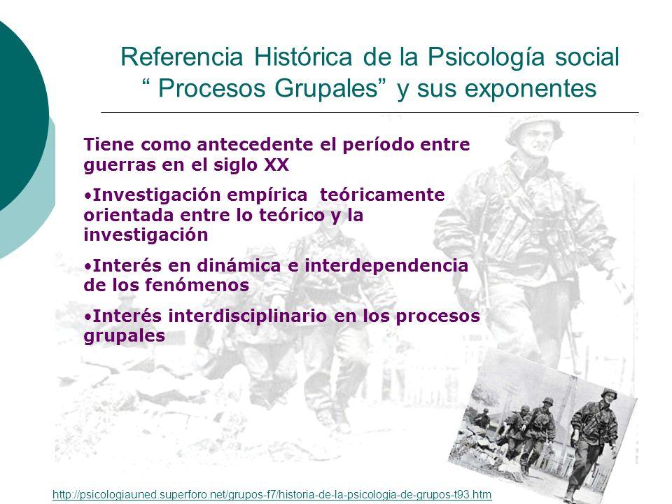 Referencia Histórica de la Psicología social Procesos Grupales y sus exponentes