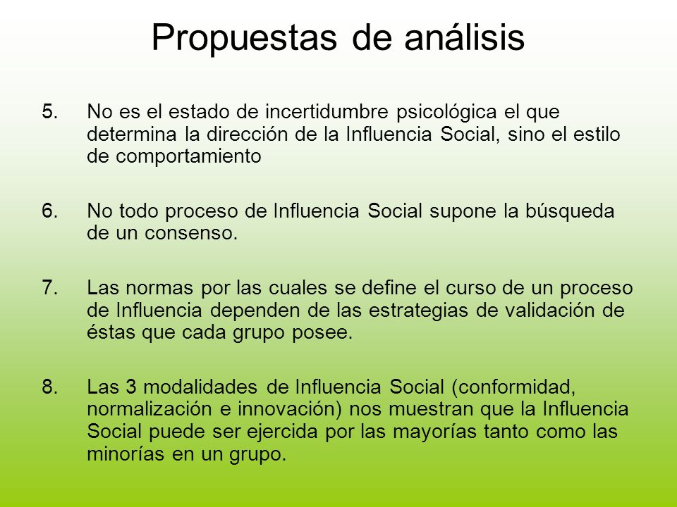 Propuestas de análisis