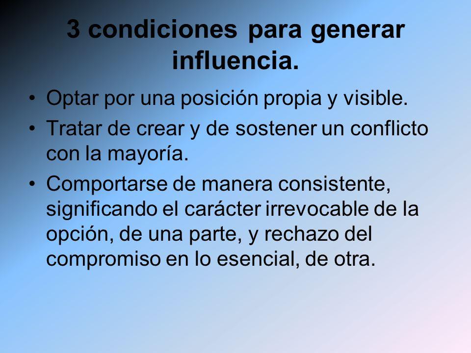 3 condiciones para generar influencia.