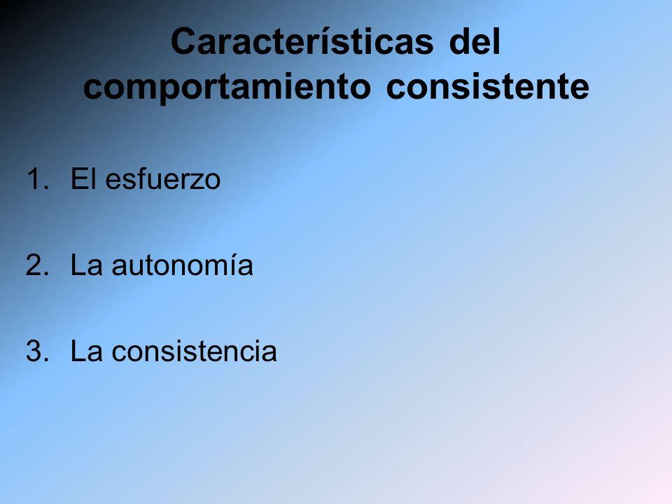 Características del comportamiento consistente