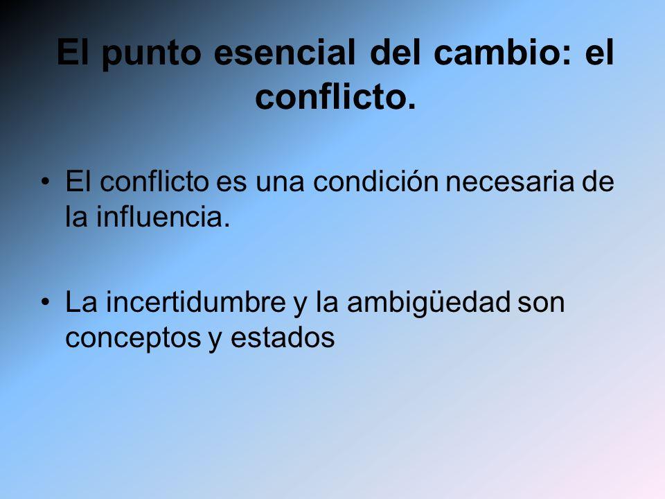 El punto esencial del cambio: el conflicto.