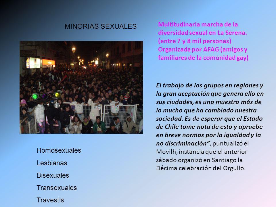 Multitudinaria marcha de la diversidad sexual en La Serena.