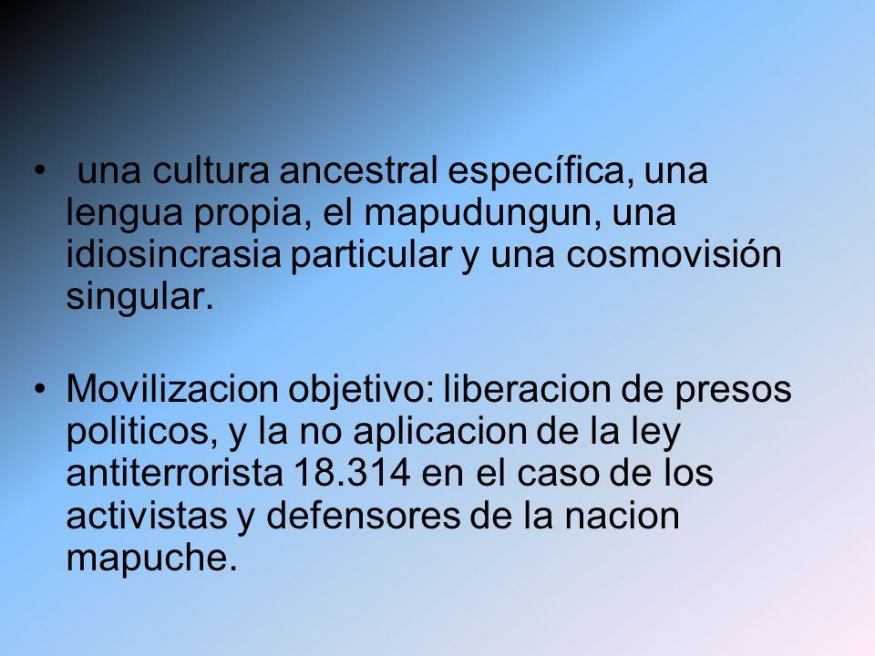una cultura ancestral específica, una lengua propia, el mapudungun, una idiosincrasia particular y una cosmovisión singular.