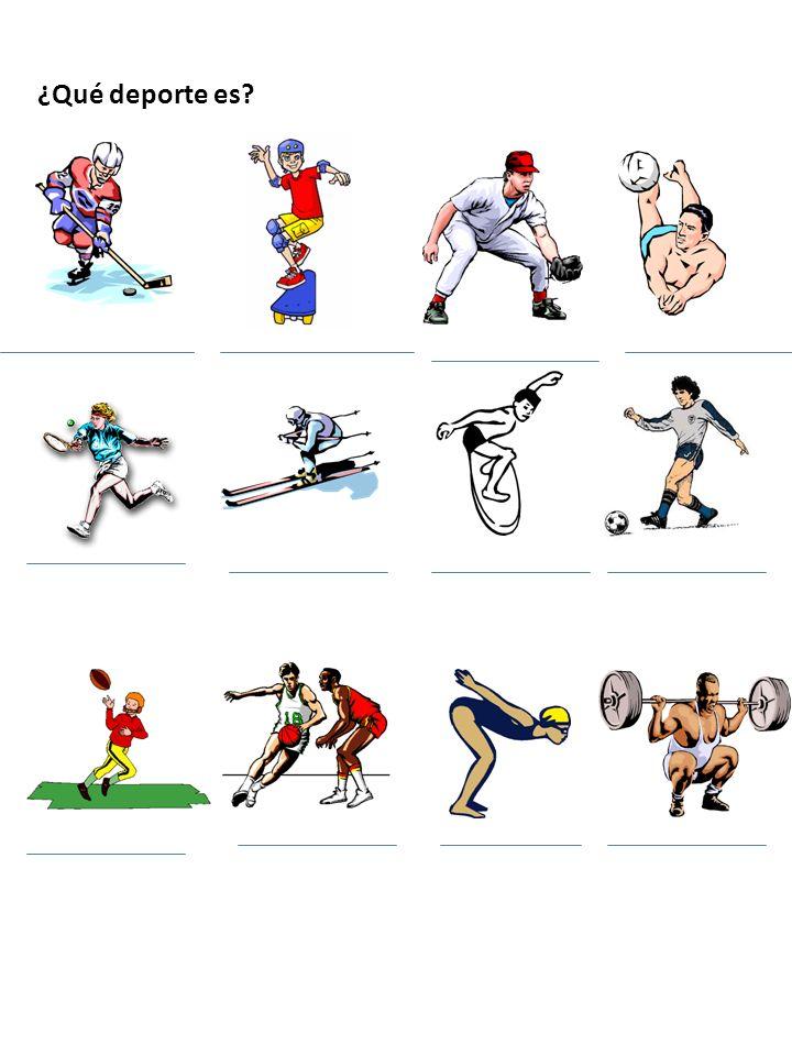 ¿Qué deporte es