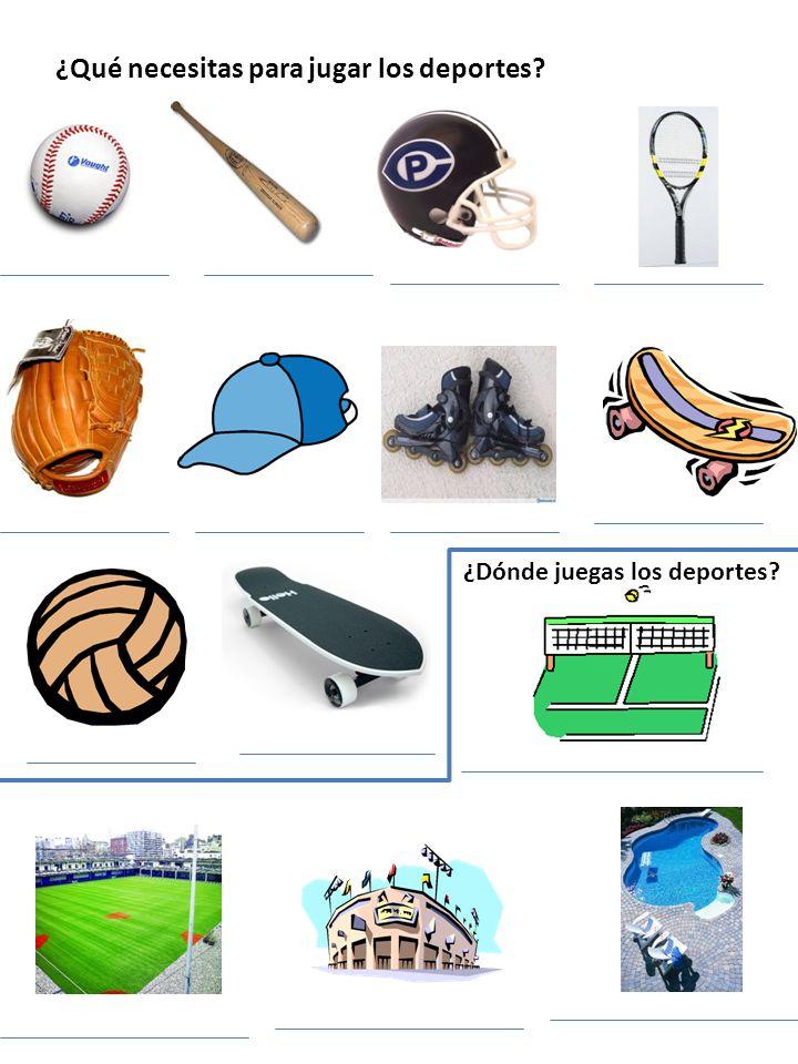 ¿Qué necesitas para jugar los deportes