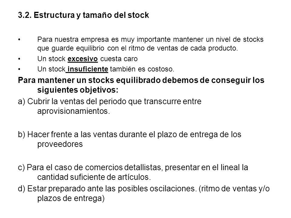 3.2. Estructura y tamaño del stock