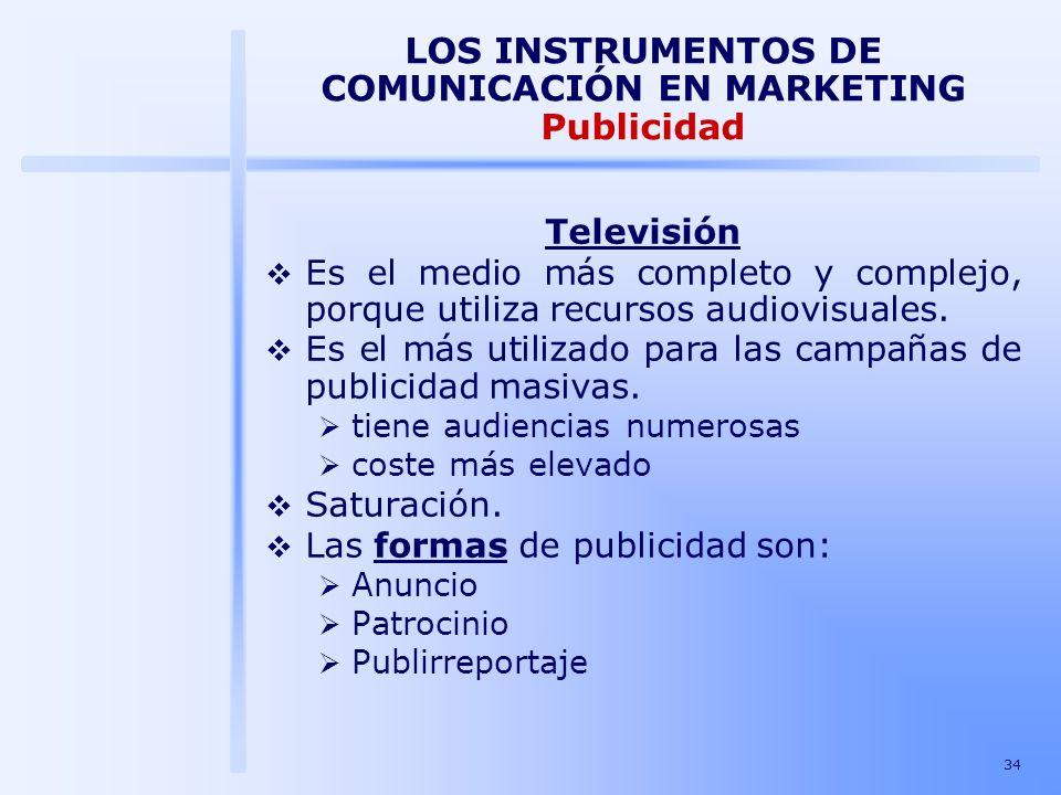 LOS INSTRUMENTOS DE COMUNICACIÓN EN MARKETING Publicidad