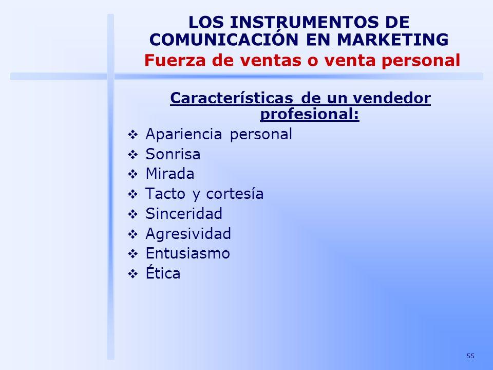 Características de un vendedor profesional: