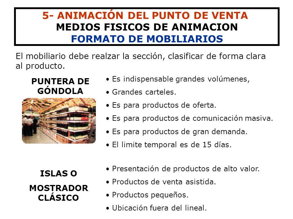 MEDIOS FISICOS DE ANIMACION FORMATO DE MOBILIARIOS