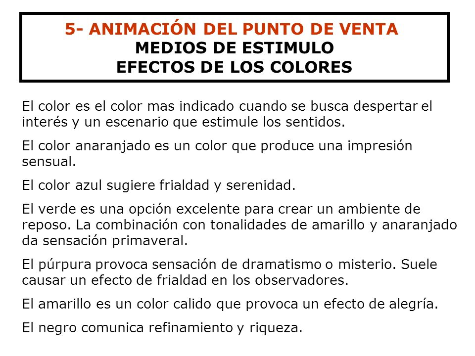 5- ANIMACIÓN DEL PUNTO DE VENTA