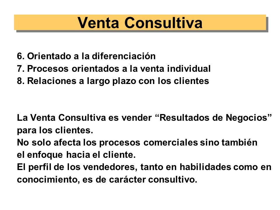 Venta Consultiva 6. Orientado a la diferenciación