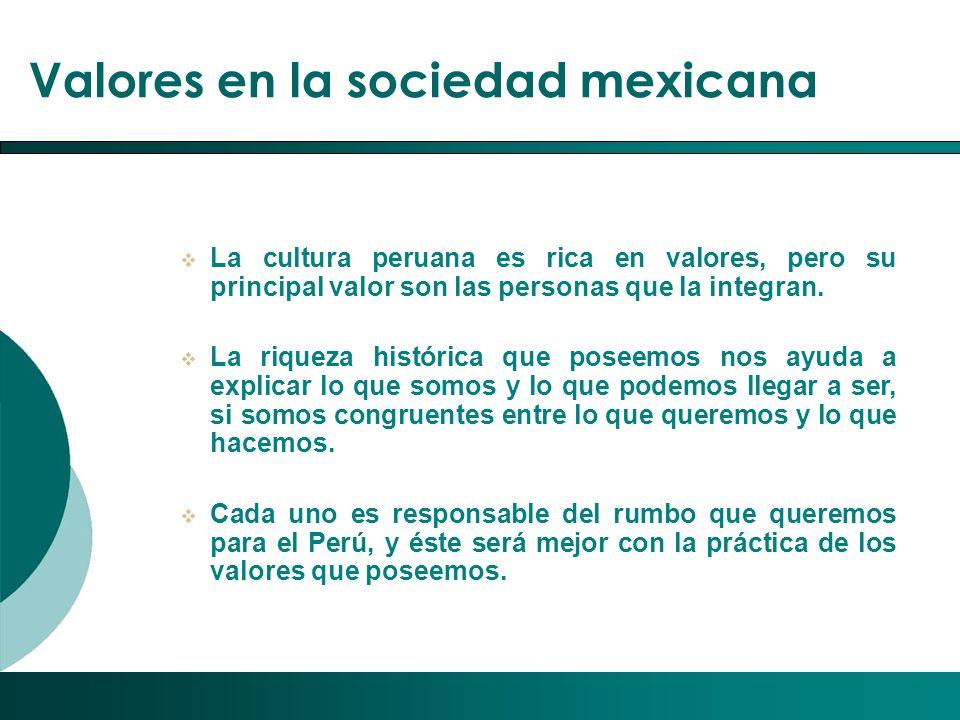Valores en la sociedad mexicana