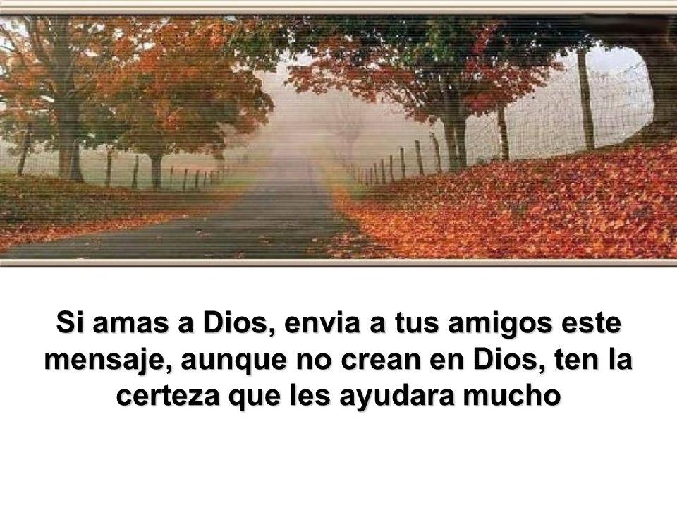 Si amas a Dios, envia a tus amigos este mensaje, aunque no crean en Dios, ten la certeza que les ayudara mucho