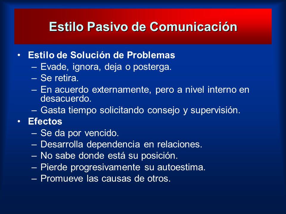 Estilo Pasivo de Comunicación