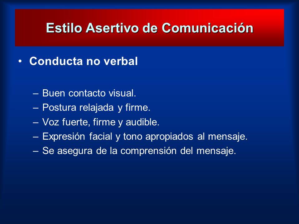 Estilo Asertivo de Comunicación
