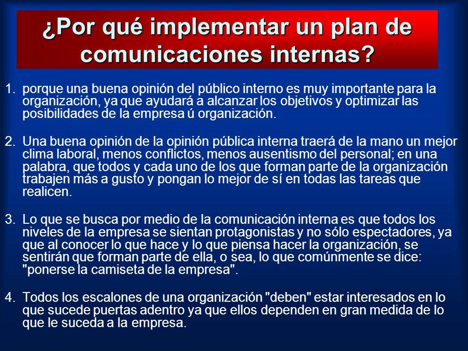 ¿Por qué implementar un plan de comunicaciones internas