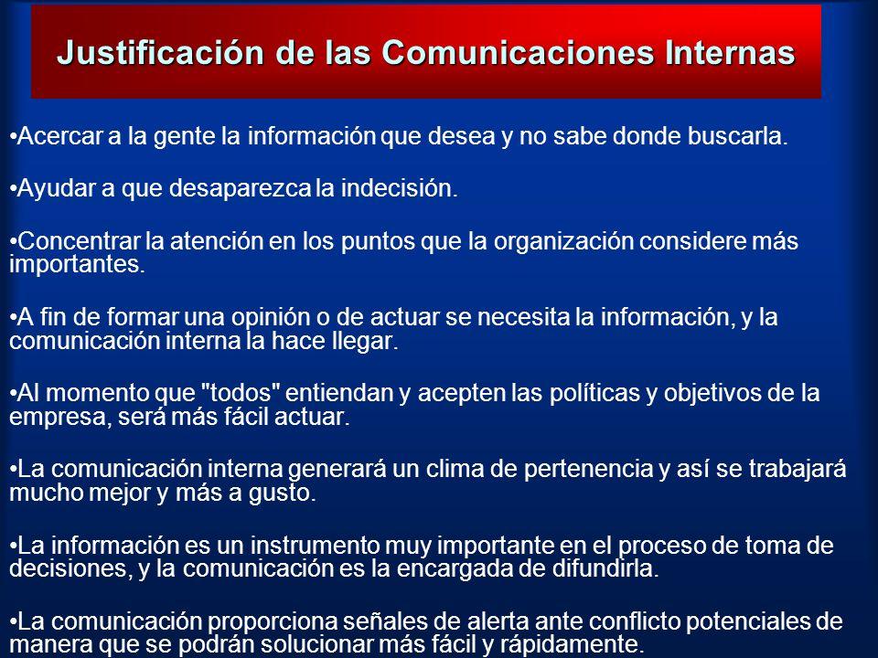 Justificación de las Comunicaciones Internas