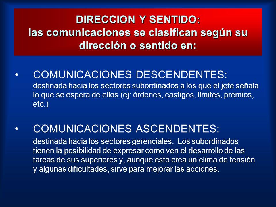 COMUNICACIONES ASCENDENTES:
