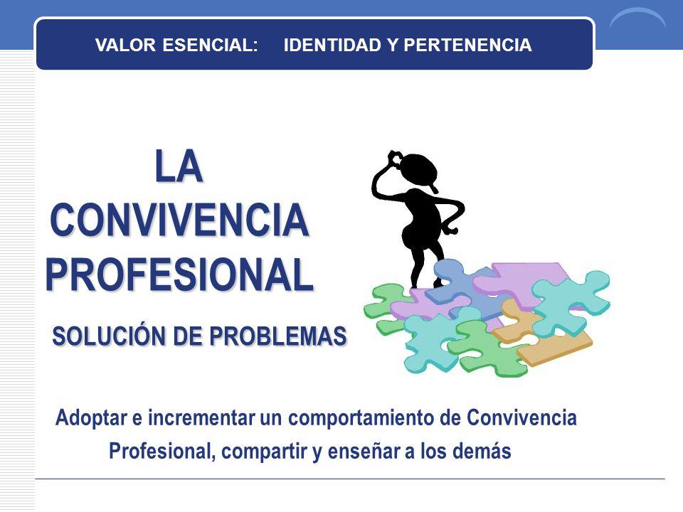 LA CONVIVENCIA PROFESIONAL SOLUCIÓN DE PROBLEMAS