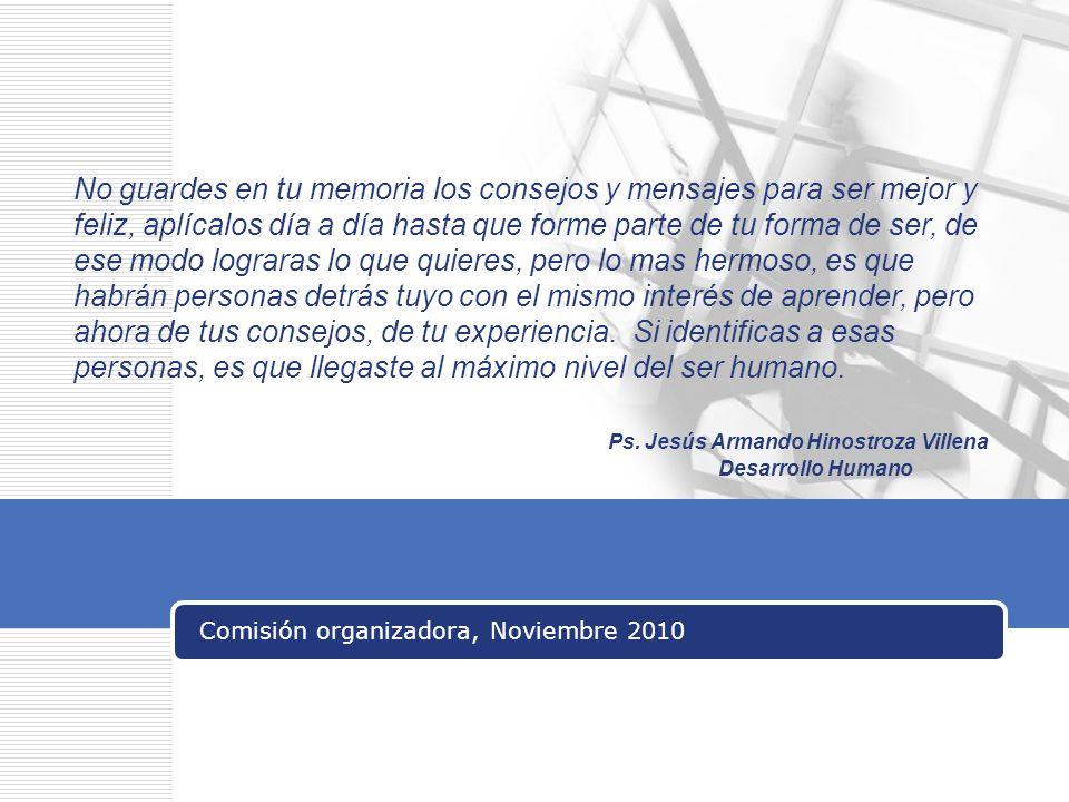 Comisión organizadora, Noviembre 2010