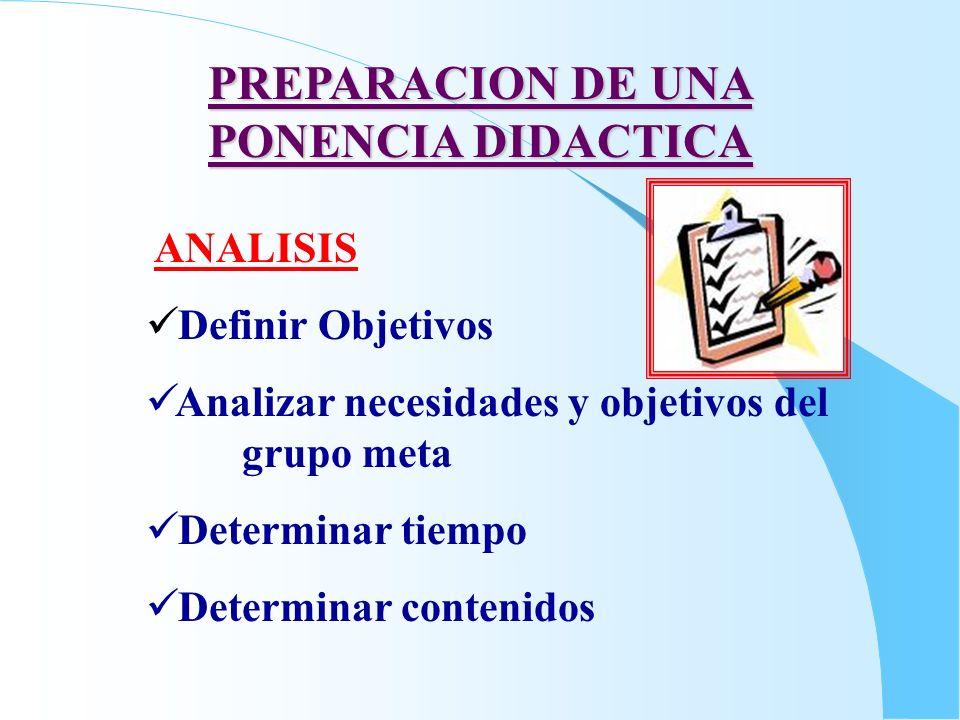 PREPARACION DE UNA PONENCIA DIDACTICA