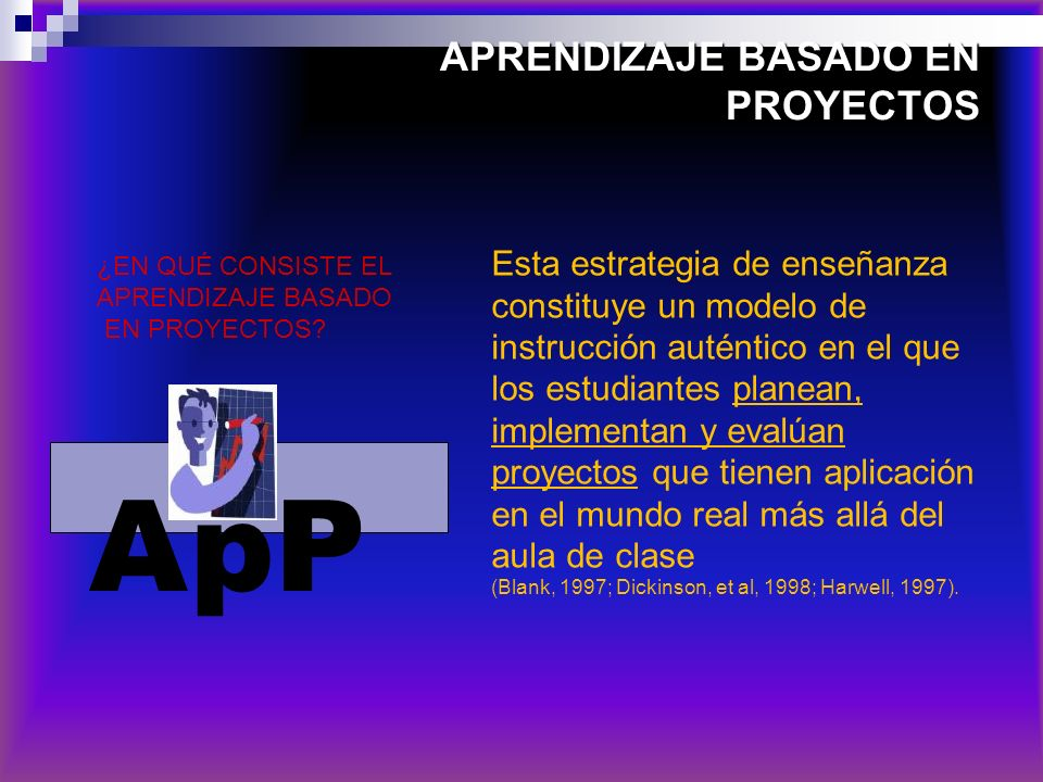 APRENDIZAJE BASADO EN PROYECTOS