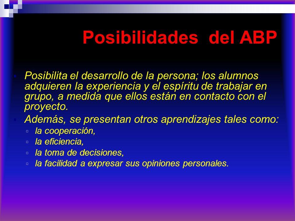 Posibilidades del ABP