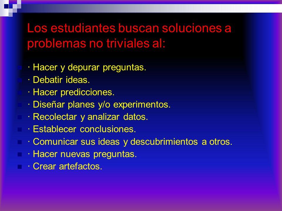Los estudiantes buscan soluciones a problemas no triviales al: