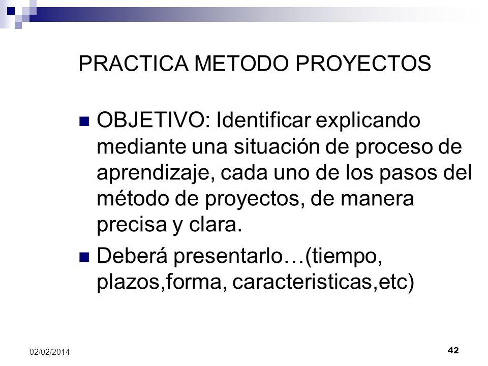PRACTICA METODO PROYECTOS