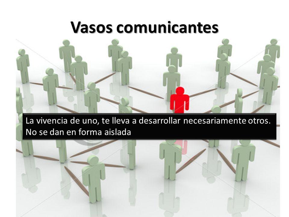Vasos comunicantes La vivencia de uno, te lleva a desarrollar necesariamente otros.