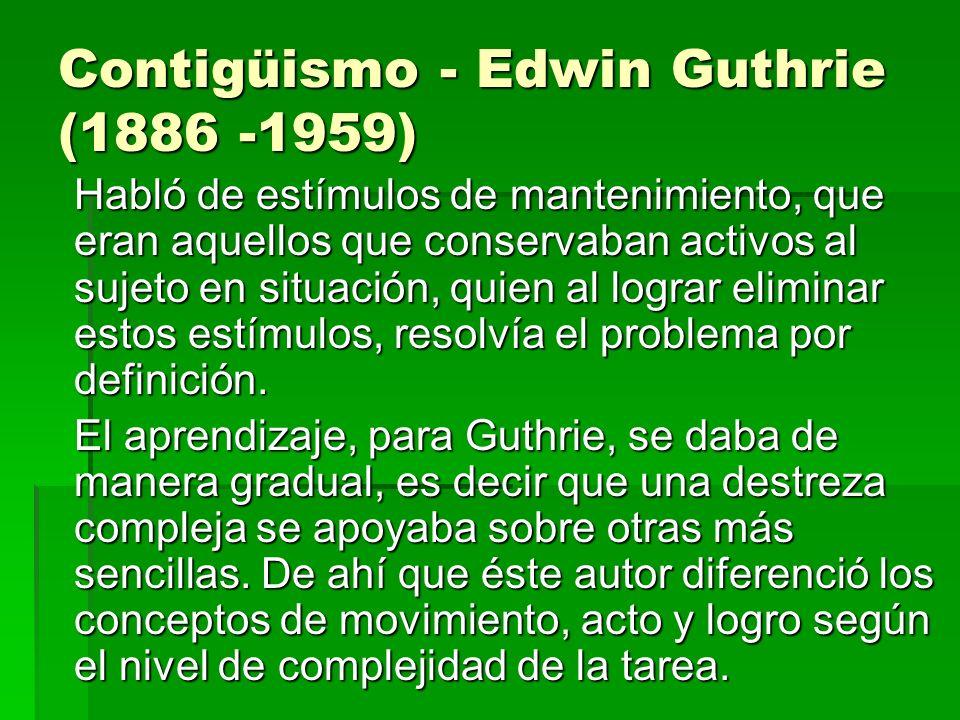 Contigüismo - Edwin Guthrie (1886 -1959)