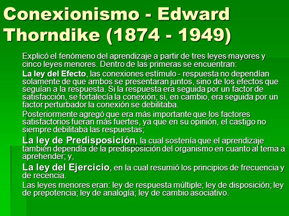 Conexionismo - Edward Thorndike (1874 - 1949)