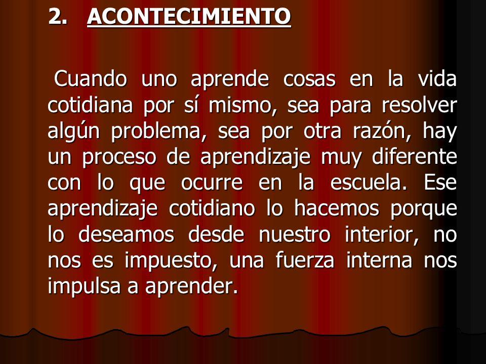 2. ACONTECIMIENTO