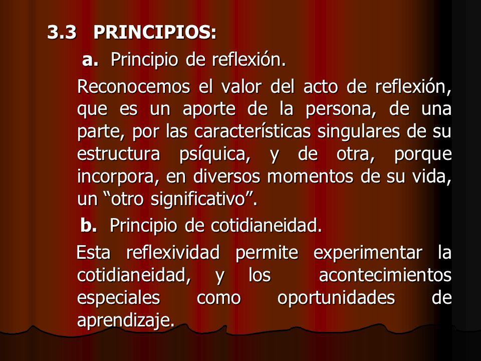 3.3 PRINCIPIOS: a. Principio de reflexión.