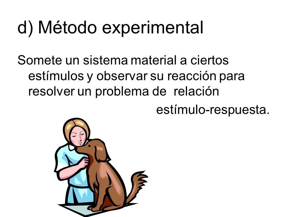 d) Método experimental
