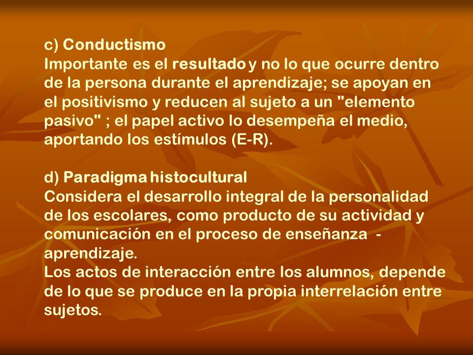 c) Conductismo