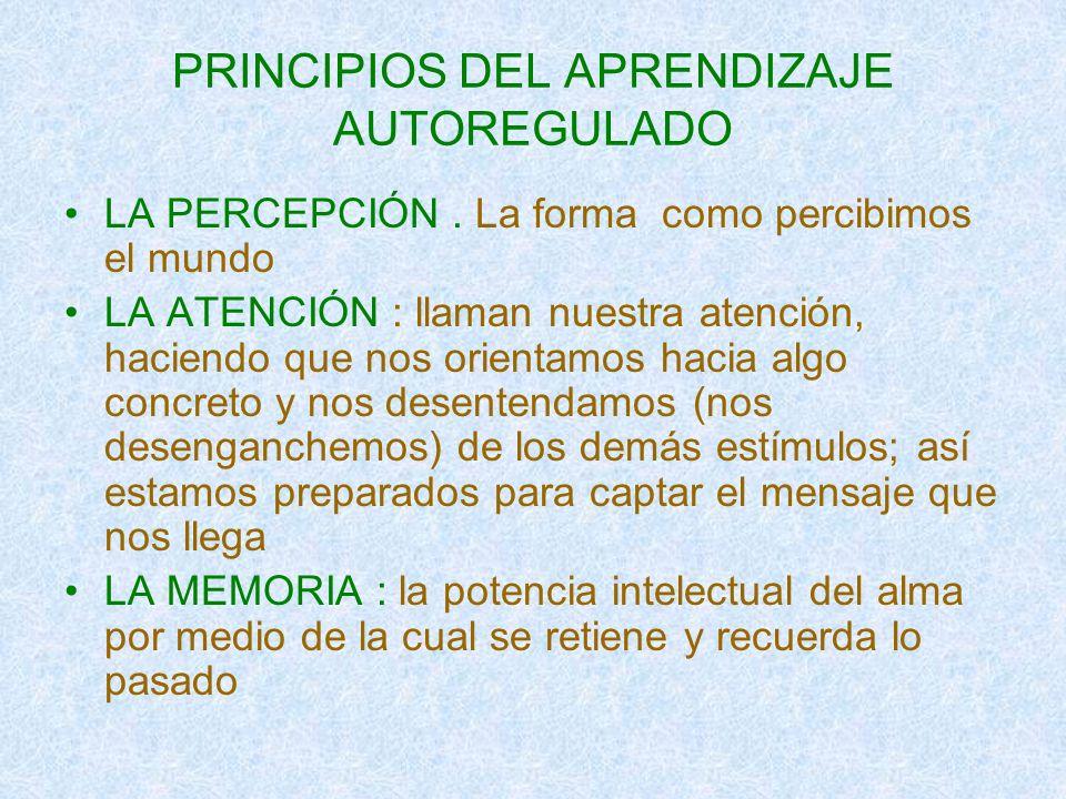 PRINCIPIOS DEL APRENDIZAJE AUTOREGULADO