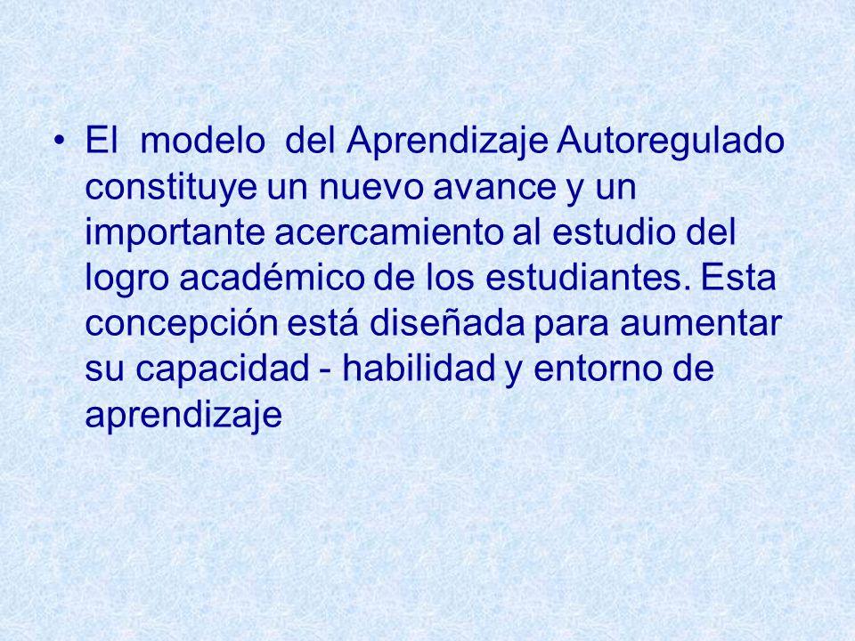 El modelo del Aprendizaje Autoregulado constituye un nuevo avance y un importante acercamiento al estudio del logro académico de los estudiantes.