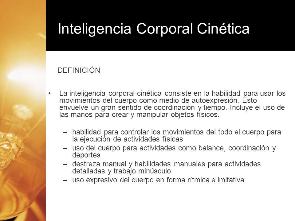 Inteligencia Corporal Cinética