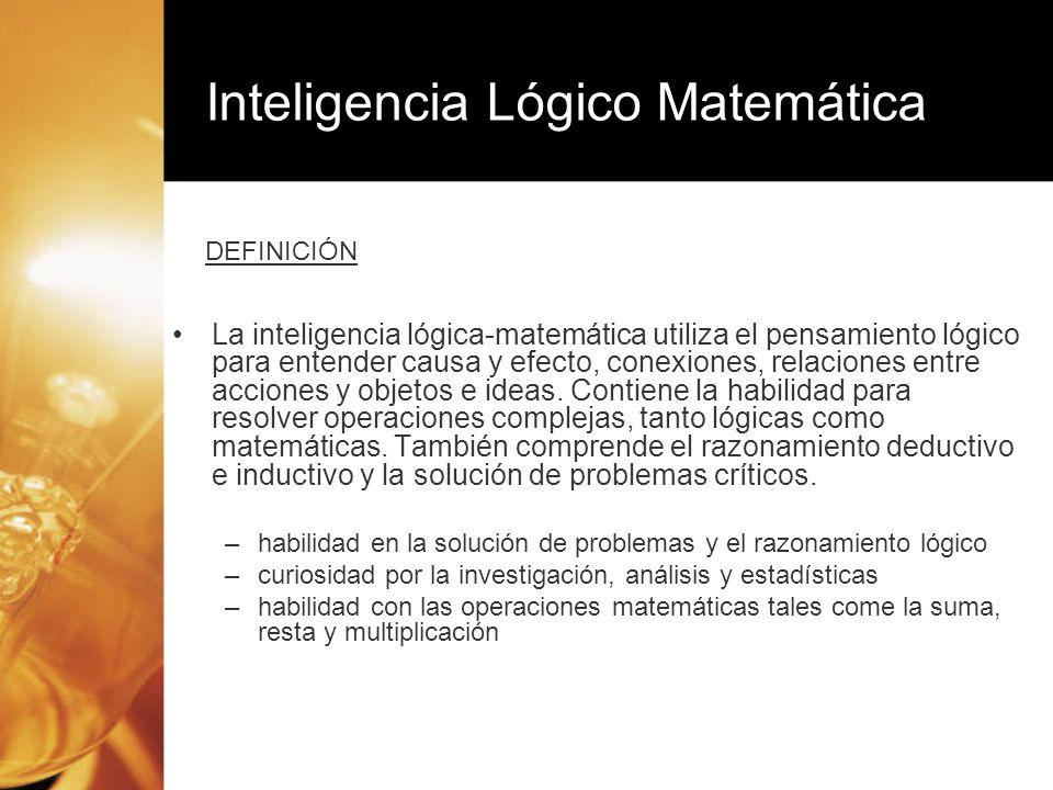 Inteligencia Lógico Matemática
