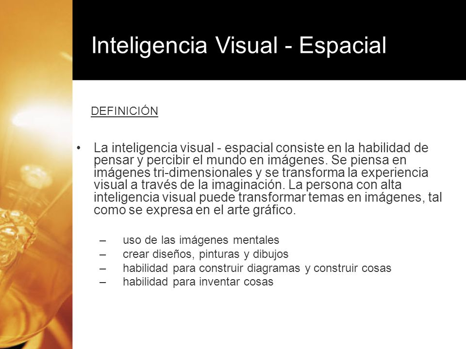 Inteligencia Visual - Espacial