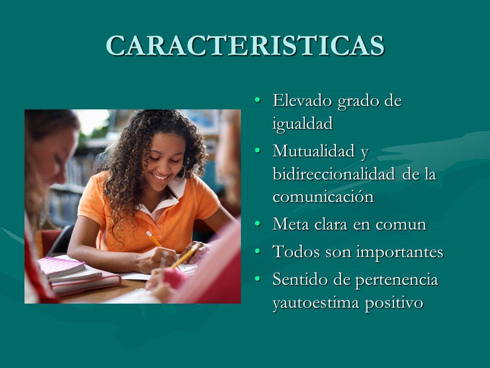 CARACTERISTICAS Elevado grado de igualdad
