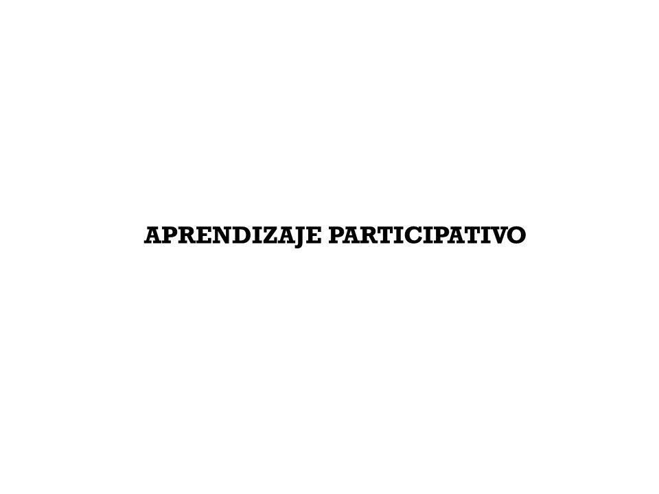 APRENDIZAJE PARTICIPATIVO