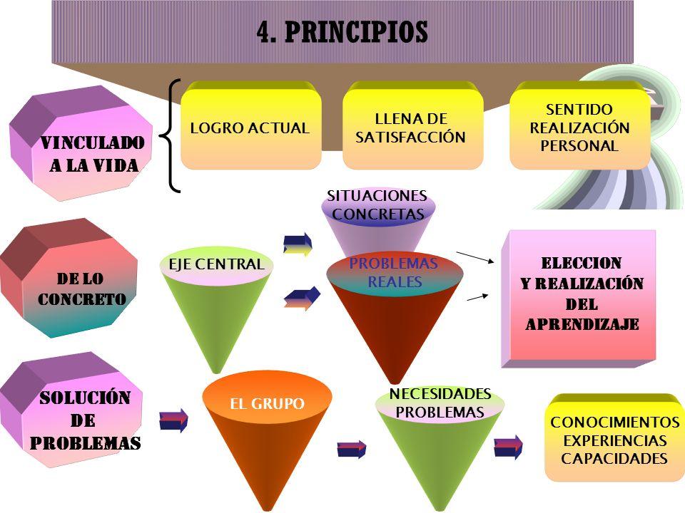 4. PRINCIPIOS VINCULADO A LA VIDA SOLUCIÓN DE PROBLEMAS ELECCION