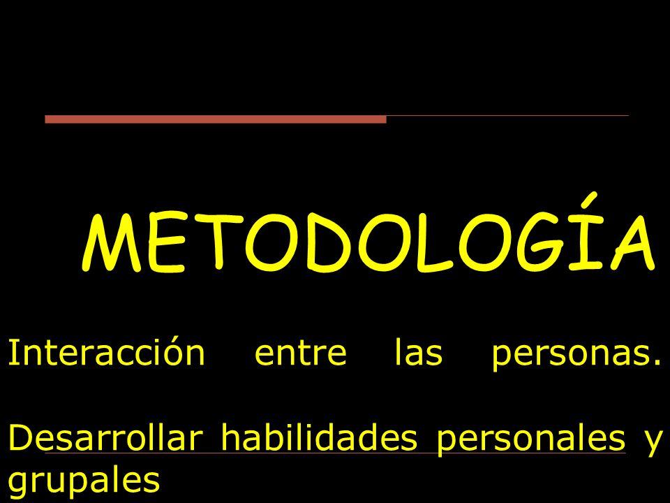 METODOLOGÍA Interacción entre las personas